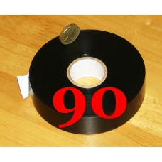 Black 25mm PVC Tape Bulk Pack